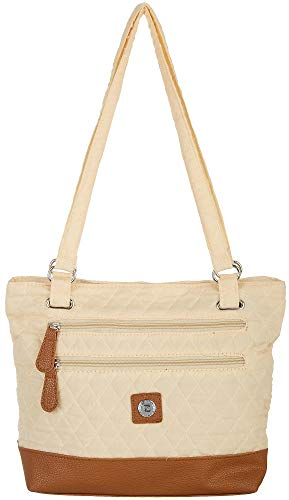 Stone Mountain Solid Quilted Donna Tote Handbag One Size Sand beige/brown