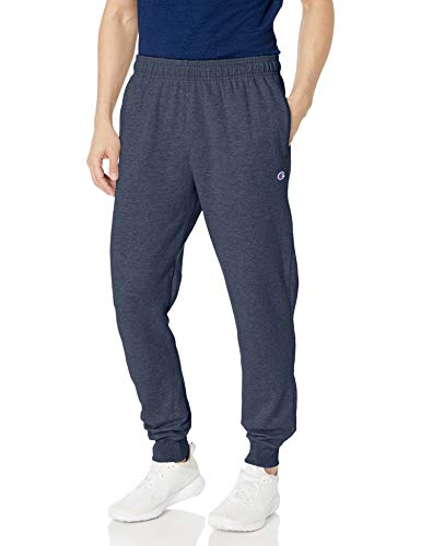 Champion Men's Powerblend Retro Fleece Jogger Pant, Navy Heather, Small
