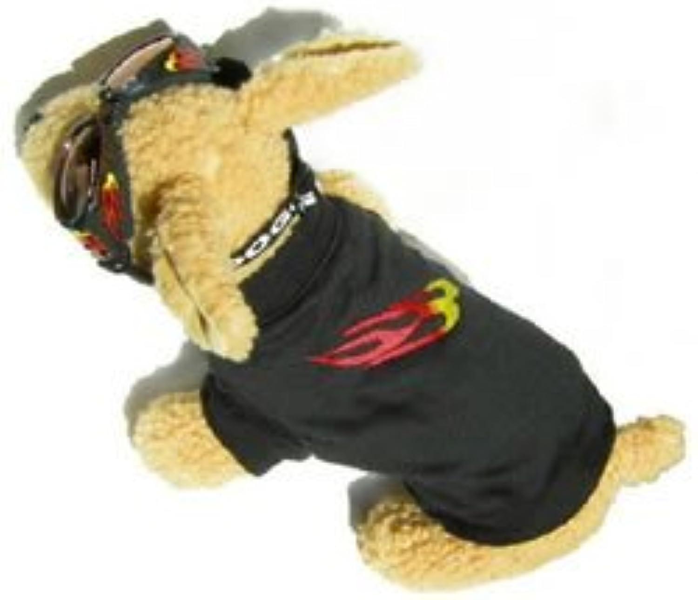 Doggles DOK9TS1012 K9 Klothes 10 TShirt K9 Black con fiamme di Doggles