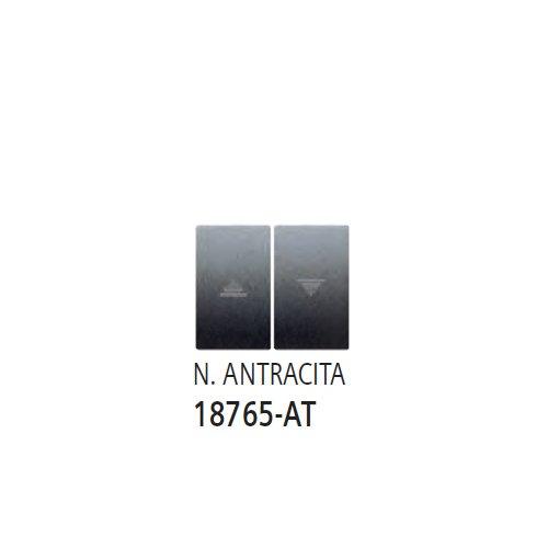 Bjc iris color - Teclas pulsador interruptor persiana iris/aura negro antracita