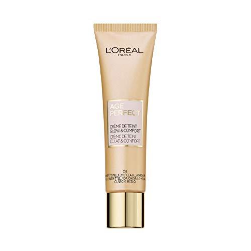L'Oréal Paris Getönte Tagescreme, Feuchtigkeitsspendende Tagespflege mit Hyaluron, Für trockene und reife Haut, Age Perfect BB Cream, 01 Hell bis Mittel, 1 x 30 ml