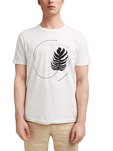 Esprit 041EE2K309 Camiseta, 110/OFF White, L para Hombre