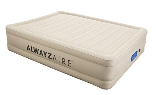 Bestway AlwayzAire Fortech Airbed (Queensize 203 x 152 x 43 cm), Luftbett mit eingebauter Elektropumpe