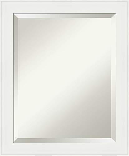 Framed Vanity Mirror   Bathroom Mirrors for Wall   Vanity White Narrow -