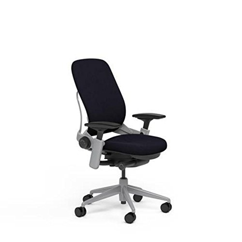 Steelcase Leap Desk Chair in Black Fabric - Highly...