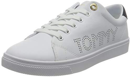 Tommy Hilfiger Damen Th Iconic Cupsole Sneaker, weiß, 37 EU