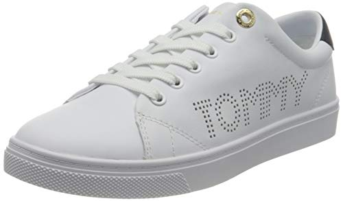 Tommy Hilfiger, TH Iconic Cupsole Sneaker Mujer, Blanco, 36.5 EU
