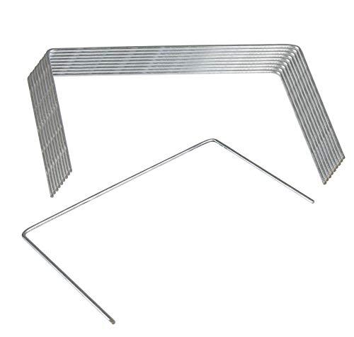 Windhager Metall-Heringe Erdanker Bodenanker Befestigungsanker Befestigungshering, verzinkt, 15 x 25 cm x Ø 4mm, 10 Stück, 06402, 05638