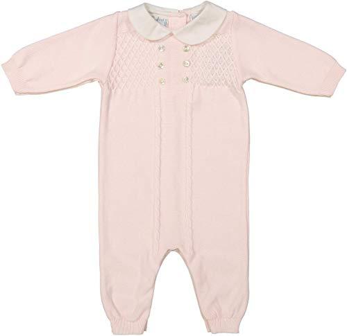 Feltman Brothers Baby Girls Pink Knitted Long Sleeve Sleeper