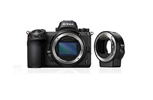 Nikon Z6 - Cámara sin Espejo de 24 MP (ISO de 100-51200, Montura Tipo Z, 12 fps, estabilización VR óptica, Modo Sport) - Kit con FTZ Adapter SD2 - Versión Nikonistas