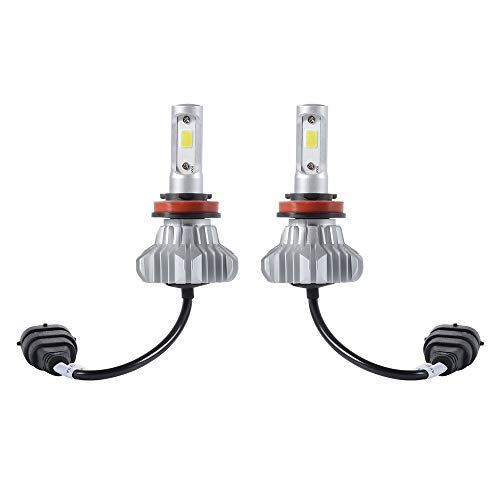 2PCS LED H11 Headlight Globes Kit 120W 18600LM Hi/Lo Beam Conversion Bulb