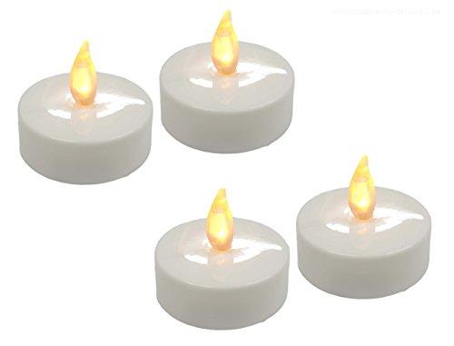 4 LED vacillante xXL maxi bougie à chauffe-plat
