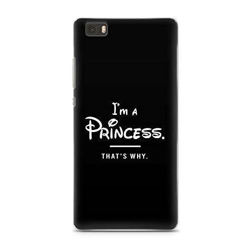 Finoo Huawei P8 Lite Hard Case Handy-Hülle mit Motiv | dünne stoßfeste Schutz-Cover Tasche in Premium Qualität | Premium Case für Dein Smartphone| Princess Black