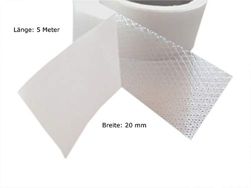 Fashion-Sonderposten Saumband Bügelband Saumfix Fixierband beidseitig in Weiß, 5 Meter Länger, 20 mm Breiter
