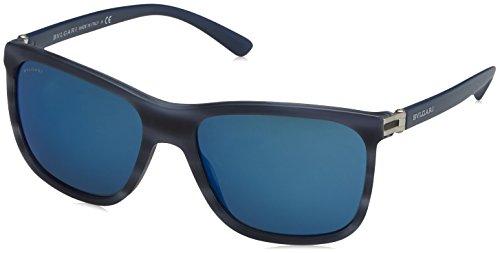 Bulgari 0Bv7027 539355 57 zonnebril voor heren, blauw (blauw/blauw)