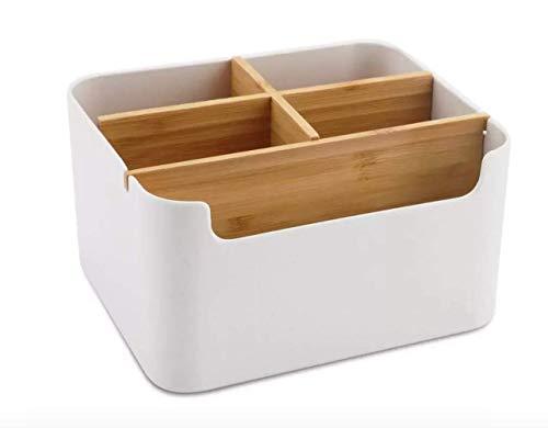 Multi-Purpose Organizer & Storage Box, Remote Control Holder, MakeUp holder, Modern Desk Side Organizer, Bathroom Caddy for Home/ Office - Desk Storage Box, Cell Phone Box, Pen & Pencil Holder