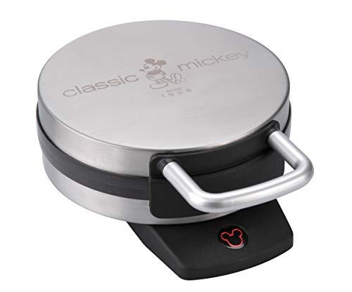 Disney DCM-1 Classic Mickey Waffle Maker, Brushed Stainless Steel,Silver,7 inch...