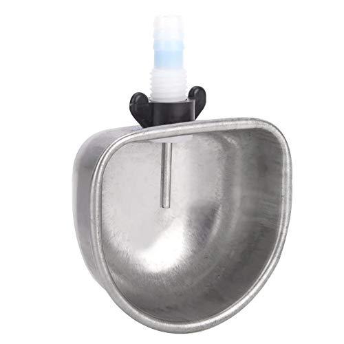 Caiqinlen Kaninchenwasserschale, Kaninchentrinker, zeitsparendes Kunststoffmaterial Verschleißfester Edelstahl für handelsübliche Kaninchenmutterkaninchen(Split Tee)