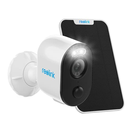 Reolink Argus 3 Spotlight Security Camera Wireless System with Solar Panel Outdoor Battery/Solar Powered, PIR Motion Activated, Two-Way Talk, Built-in Siren, for Home Surveillance