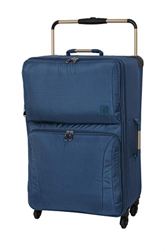 IT World's Lightest 74cm Softside Luggage Four Wheel Suitcase Moroccan Blue