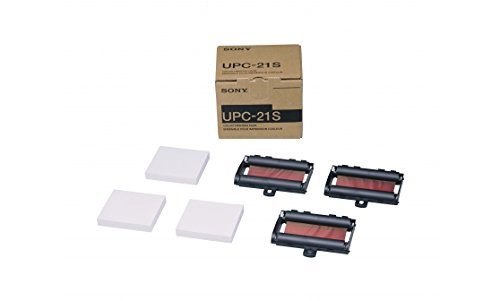 Sony UPC21S Pack d'impression papier taille S pour imprimantes vidéo couleur UP-21MD, UP23-MD et UP-D25 MD