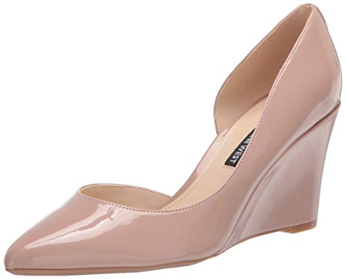 NINE WEST D'Orsay Damen-Pumps mit Keilabsatz, (Barely Nude), 42 EU