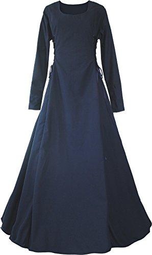 Dornbluth Damen Mittelalter Kleid Eleonore (36/38, Marine)