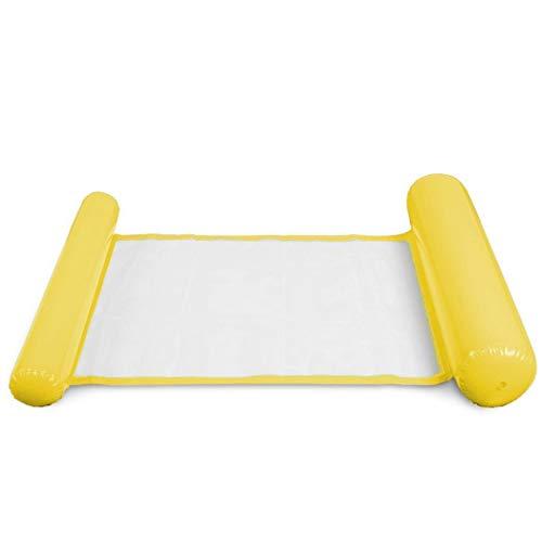 GUIGSI - Silla de natación Hinchable Plegable para Verano, PVC, Amarillo, Talla única