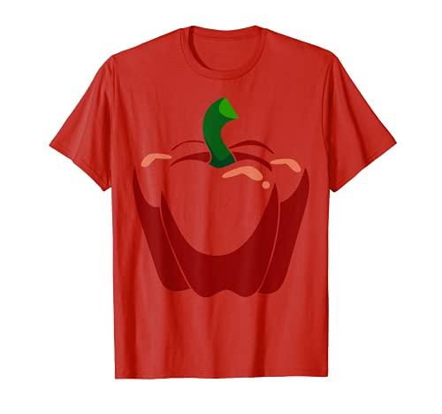Gran Campana Roja Pimienta Fruta Disfraz Lindo Fcil Regalo De Camiseta