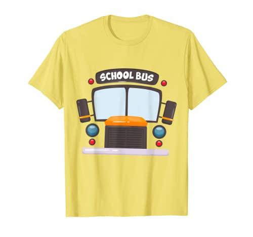 Divertido disfraz de autobs escolar para camioneta Camiseta