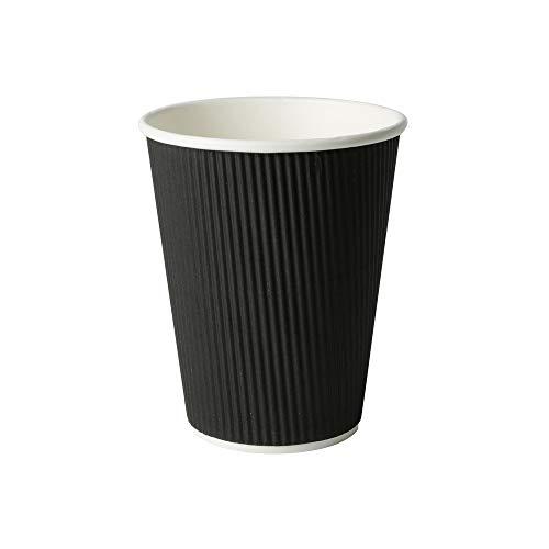 BIOZOYG Tazza caffè Ondulata I Bicchierini Monouso Ecologici 300 ml / 12 oz I 100 Pezzi Tazze Espresso compostabili