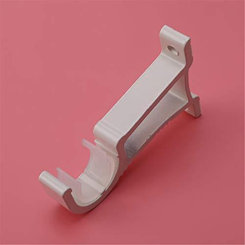 FGJFJ Seitenwandhalterung Stangenhakenhalterung 28mm Stangenvorhang Hardware Vorhangstangenhalter,Weiß