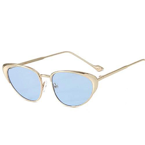 Gafas De Sol Hombre Mujeres Ciclismo Gafas De Sol De Moda para Mujer con Montura De Metal Vintage para Hombre, Gafas De Sol, Gafas Retro para Mujer, Azul