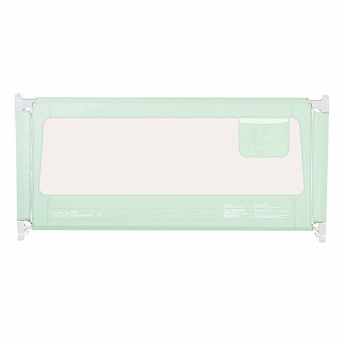 FCXBQ Garde-Corps de lit Portable et Stable Baby Guard Easy Fit pour Tout-Petits/Enfants/Enfants, Grand 150-200 cm, Vert (Taille: 1,5 m)