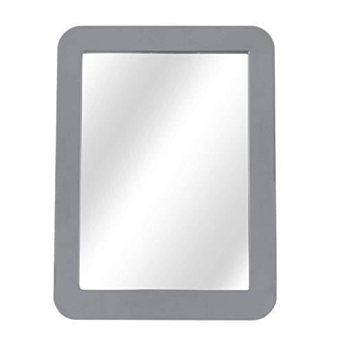 Magnetic Locker Mirror for School Locker, Gym Locker, Office Cabinet, Workshop or Refrigerator, Makeup Mirror, Locker Accessory, Toolbox, Glass 5' x 7' Gray