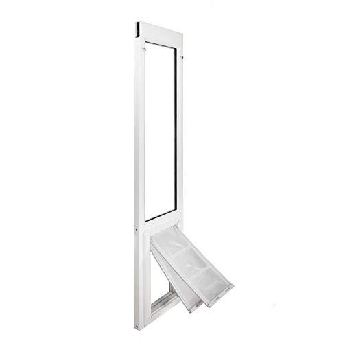 Endura Flap Severe Weather Vinyl Sliding Glass Dog Door - Medium - 77.25' - 80.25' - White