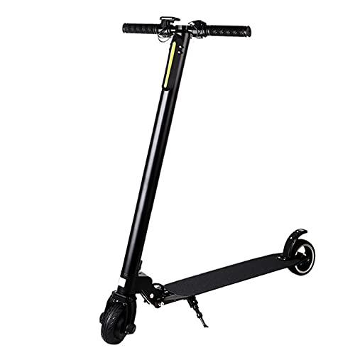 N\B E-Scooter eléctrico, pequeño Mini Pedal, Fibra de Carbono, Potente Motor de Scooter de batería, Ligero y Plegable para Adultos y Adolescentes con un Potente Faro