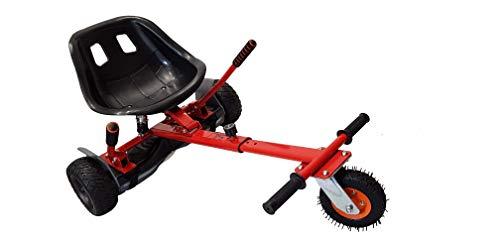 SILI® Aus Straße Suspension Kart für 2 Wheel Self Balance Scooter, verbessertes Design mit Federung unter dem Sitz (ROT)