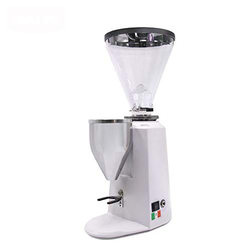 Affordable MCJL Quantitative Electric Grinder, 360W Grinder Commercial Professional Italian quantitative Coffee Grinder Mill 1500ml Large Capacity,White