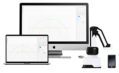 Dexarm Luxury - All-in-one Desktop Robot Arm by Rotrics - 3D Printer, Laser Engraver, Laser Cutter, and Pen Holder - High Precision and Expansibility - A Versatile Robotic Arm Machine