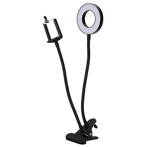 Luces LED circulares, anillo de luz LED 2 en 1 USB para maquillaje para transmisión en vivo para fotografía para video