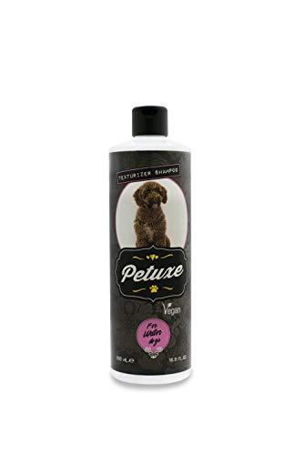 Petuxe Champú Vegano para Perros de Agua. Champú Vegano Perros. Texturizador Perro de Agua. Champú Mascotas. Lavante, hidratante y vitalizante (500 ml)