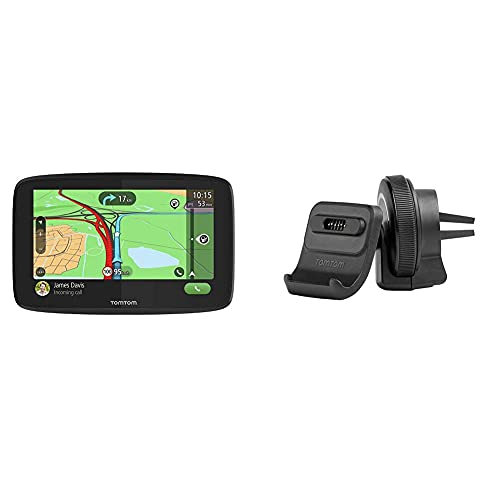 TomTom Navigationsgerät GO Essential (6 Zoll, Stauvermeidung Dank TomTom Traffic) & Aktiv Lüftungsschlitzhalterung