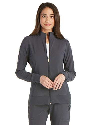 Cherokee iFlex CK303 Zip Front Warm-Up Jacket Pewter XS