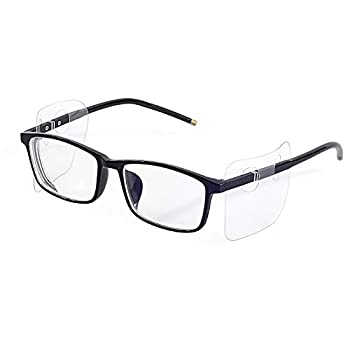 20 Pairs safety clear glasses Slip-on Side Shields fits small to medium eyeglasses 20 pairs