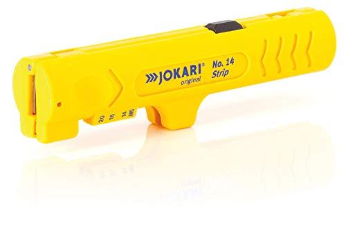 JOKARI Entmanteler Strip No. 14 (für PVC Kabel mit ø 4-13 mm, zum Abisolieren in Gerätedosen, inkl. Klinge für Längsschnitt) 460230
