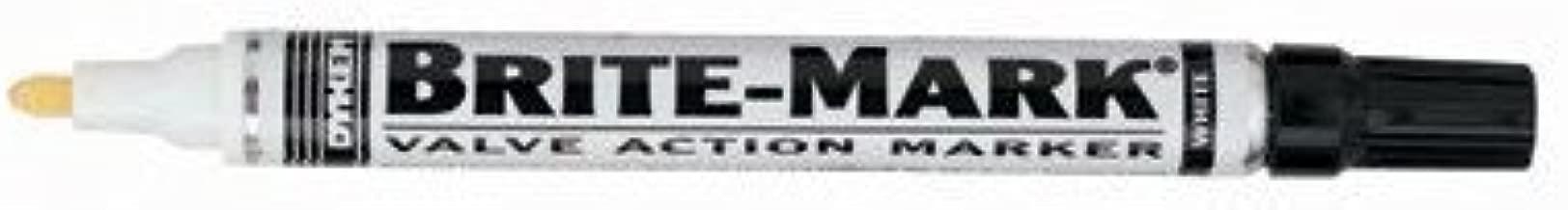 DYKEM BRITE-MARK Medium Markers - white marker layout marking pen [Set of 12]