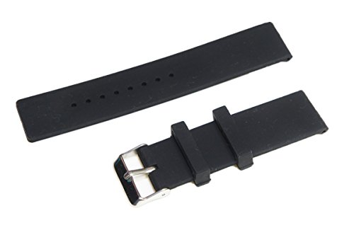 Preisvergleich Produktbild 24mm Sports Silikon Armband Strap Uhrenarmband + Werkzeug für Sony Smartwatch 2 SW2 Schwarz