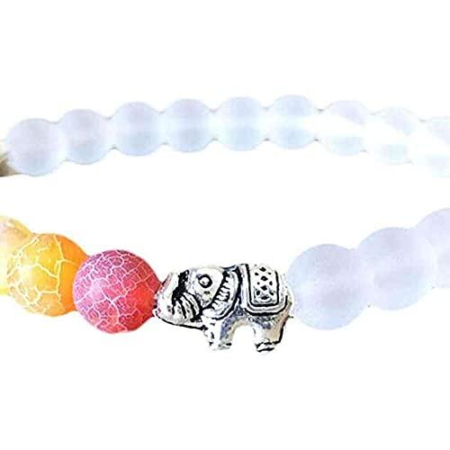 chaosong shop Pulsera de riqueza con diseño de elefante energético, cuentas de cristal curativas, pulsera de yoga para hombres y mujeres, regalo puede traer buena suerte