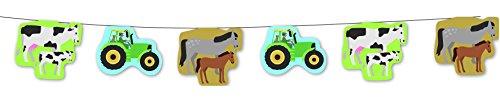 3,5m Wimpelkette * Bauernhof * für Kindergeburtstag // Girlande Kinder Geburtstag Party Tiere Farm Wimpel Kette Girlande Partykette (Grundpreis: 1,00 Euro/m)